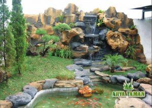 jasa pembuatan kolam ikan relief minimalis murah » arya taman